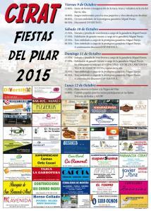 programa Fiestas del Pilar Cirat 2015